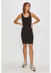 Czarna sukienka Dr. Denim na co dzień, dopasowana, na ramiączkach