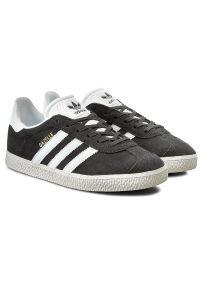Adidas - Buty adidas - Gazelle J BB2503 Dgsogr/Ftwwht/Goldmt. Zapięcie: sznurówki. Kolor: szary. Materiał: skóra, zamsz. Szerokość cholewki: normalna. Styl: vintage, młodzieżowy
