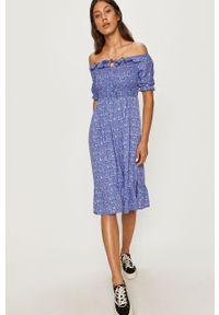 Fioletowa sukienka ANSWEAR prosta, mini