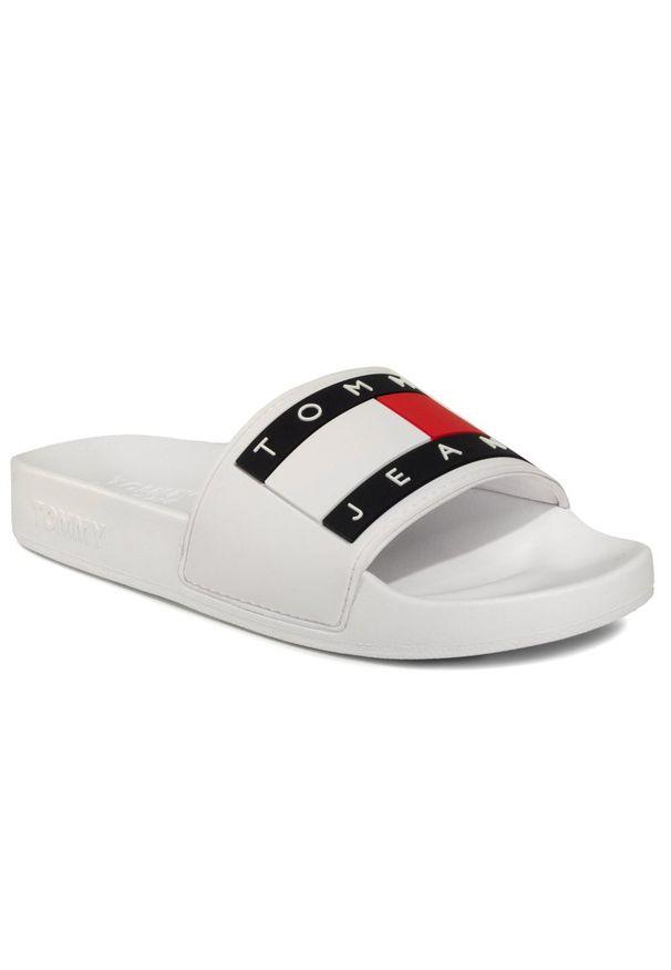 Białe klapki Tommy Jeans