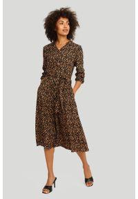 Greenpoint - Wiskozowa szmizjerka z nadrukiem. Materiał: wiskoza. Wzór: nadruk. Typ sukienki: szmizjerki
