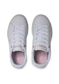 Lacoste - Sneakersy LACOSTE - Carnaby Evo 0921 1 Suc 7-41SUC00021Y9 Wht/Lt Pink. Okazja: na co dzień. Kolor: biały. Materiał: skóra ekologiczna, skóra. Szerokość cholewki: normalna. Styl: casual