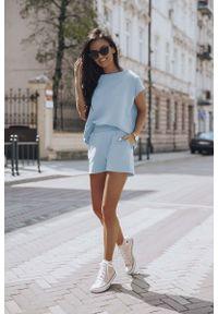 IVON - Letni Komplet Dresowy - Błękitny. Kolor: niebieski. Materiał: dresówka. Sezon: lato