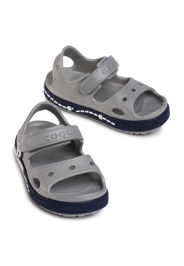 Szare sandały Coqui
