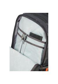 Szary plecak na laptopa AMERICAN TOURISTER z nadrukiem
