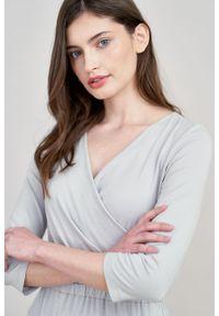 Marie Zélie - Sukienka Rita jasnoszara mikromodal. Kolor: szary #4