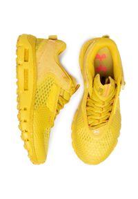 Żółte buty do biegania Under Armour z cholewką, na co dzień