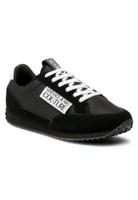 Czarne sneakersy Versace Jeans Couture z cholewką, na co dzień