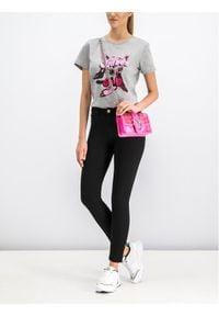 Pinko T-Shirt Mazurka 1 PE 19 UNQS 3U10J7 Y5HH Szary Regular Fit. Kolor: szary