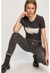 Szare proste jeansy Levi's® z podwyższonym stanem, na spotkanie biznesowe, biznesowe