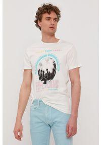 Pepe Jeans - T-shirt Matt. Okazja: na co dzień. Kolor: biały. Wzór: nadruk. Styl: casual