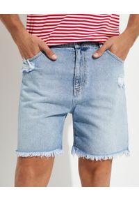 SER.O.YA - Jeansowe spodenki Jack. Kolor: niebieski. Materiał: jeans. Styl: klasyczny