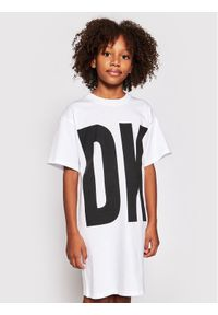 DKNY Sukienka codzienna D32777 S Biały Regular Fit. Okazja: na co dzień. Kolor: biały. Typ sukienki: proste. Styl: casual