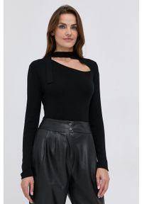 Silvian Heach - Sweter z domieszką wełny. Kolor: czarny. Materiał: wełna. Długość rękawa: długi rękaw. Długość: długie