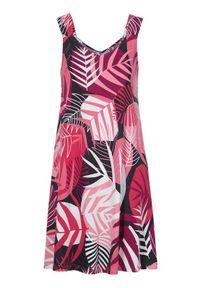 Cellbes Dżersejowa sukienka ze wzorem Czarny we wzory female czarny/ze wzorem 38/40. Kolor: czarny. Materiał: jersey. Długość rękawa: na ramiączkach. Sezon: lato