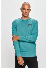 Morska bluza nierozpinana Pepe Jeans raglanowy rękaw, z aplikacjami, bez kaptura