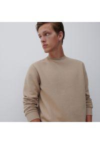 Reserved - Gładka bluza - Beżowy. Kolor: beżowy. Wzór: gładki