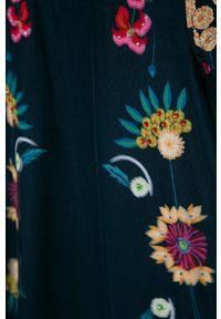 Niebieska sukienka Desigual z krótkim rękawem, rozkloszowana, mini