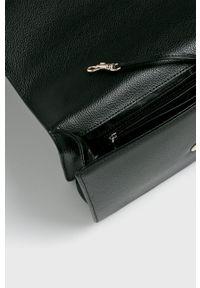 DKNY - Dkny - Torebka skórzana. Kolor: czarny. Materiał: skórzane. Rodzaj torebki: na ramię