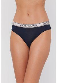 Emporio Armani Underwear - Figi. Kolor: niebieski. Materiał: dzianina, materiał. Wzór: gładki