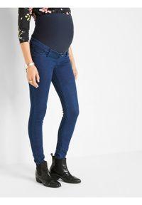 Dżinsy ciążowe ocieplane z miękką spodnią stroną bonprix Dżinsy ciąż oci c.den T. Kolekcja: moda ciążowa. Kolor: czarny