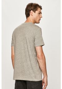 Szary t-shirt Wrangler casualowy, na co dzień, z okrągłym kołnierzem