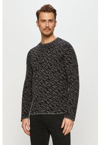 Baldessarini - Sweter. Okazja: na co dzień. Kolor: czarny. Materiał: dzianina. Długość rękawa: długi rękaw. Długość: długie. Styl: casual