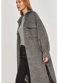 Szary płaszcz Answear Lab bez kaptura, wakacyjny