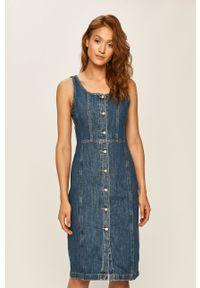 Niebieska sukienka Levi's® biznesowa, na ramiączkach