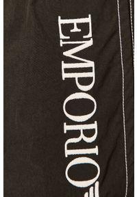 Czarne kąpielówki Emporio Armani z nadrukiem