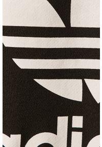 Czarna bluza adidas Originals casualowa, z okrągłym kołnierzem, z nadrukiem, na co dzień