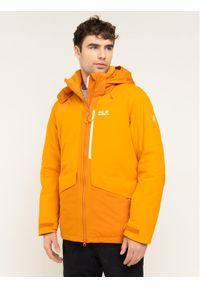 Pomarańczowa kurtka sportowa Jack Wolfskin narciarska