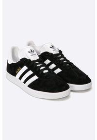Czarne sneakersy adidas Originals z cholewką, z okrągłym noskiem, Adidas Gazelle