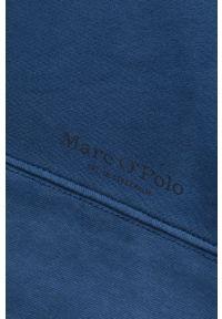 Marc O'Polo - Bluza bawełniana. Typ kołnierza: polo. Kolor: niebieski. Materiał: bawełna. Długość rękawa: długi rękaw. Długość: długie