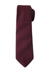 Stylowy Krawat Męski w Drobny, Oryginalny Wzór - 6 cm - Alties, Ciemny Bordowy. Kolor: czerwony. Materiał: tkanina. Styl: elegancki