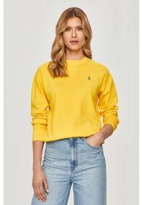 Polo Ralph Lauren - Bluza. Typ kołnierza: polo. Kolor: żółty. Długość rękawa: długi rękaw. Długość: długie