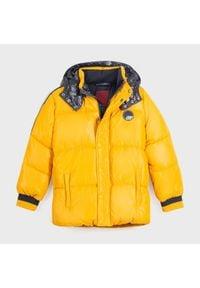 Mayoral Kurtka puchowa 7467 Żółty Regular Fit. Kolor: żółty. Materiał: puch