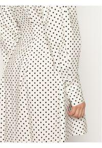 Biała sukienka Silvian Heach prosta, casualowa, na co dzień