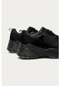 Czarne buty sportowe Answear Lab na sznurówki, z okrągłym noskiem, z cholewką