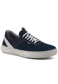 Niebieskie sneakersy QUAZI na co dzień, z cholewką