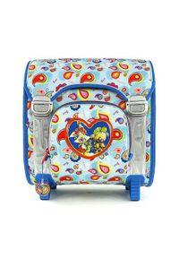 Niebieski plecak Diddl & Friends w kolorowe wzory, klasyczny