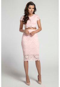 Różowa spódnica Nommo z podwyższonym stanem