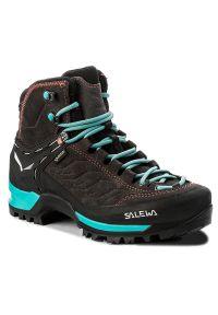 Szare buty trekkingowe Salewa trekkingowe, Gore-Tex, z cholewką