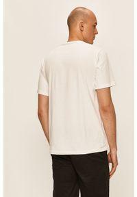 Biały t-shirt Converse casualowy, na co dzień, z nadrukiem