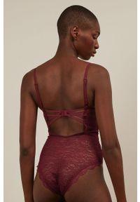 Brązowe body Undiz w koronkowe wzory