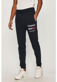 Niebieskie spodnie dresowe Tommy Sport z nadrukiem