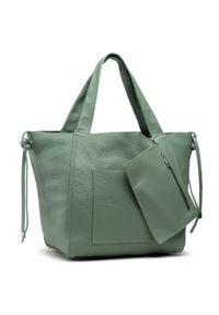 Creole - Torebka CREOLE - K10726 Zielony. Kolor: zielony. Materiał: skórzane. Styl: klasyczny