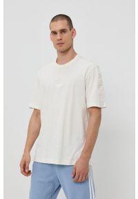 adidas Originals - T-shirt bawełniany. Okazja: na co dzień. Kolor: beżowy. Materiał: bawełna. Styl: casual