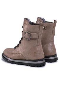 Brązowe buty zimowe Primigi na spacer, z cholewką