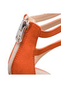 Pomarańczowe sandały Eva Minge eleganckie